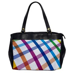 Webbing Line Color Rainbow Office Handbags by Mariart