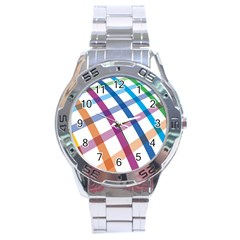 Webbing Line Color Rainbow Stainless Steel Analogue Watch by Mariart
