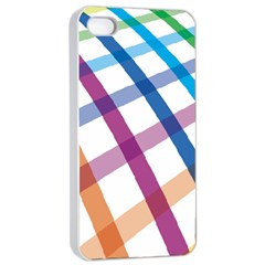 Webbing Line Color Rainbow Apple Iphone 4/4s Seamless Case (white) by Mariart