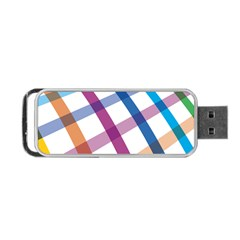 Webbing Line Color Rainbow Portable Usb Flash (two Sides) by Mariart