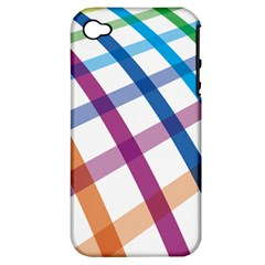 Webbing Line Color Rainbow Apple Iphone 4/4s Hardshell Case (pc+silicone) by Mariart