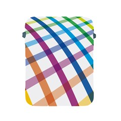 Webbing Line Color Rainbow Apple Ipad 2/3/4 Protective Soft Cases by Mariart