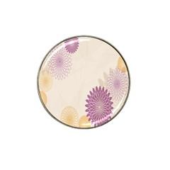 Star Sunflower Floral Grey Purple Orange Hat Clip Ball Marker (10 Pack) by Mariart
