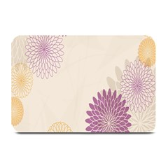 Star Sunflower Floral Grey Purple Orange Plate Mats by Mariart