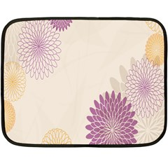 Star Sunflower Floral Grey Purple Orange Fleece Blanket (mini) by Mariart