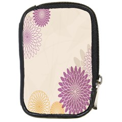 Star Sunflower Floral Grey Purple Orange Compact Camera Cases by Mariart