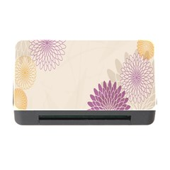 Star Sunflower Floral Grey Purple Orange Memory Card Reader With Cf by Mariart