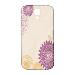 Star Sunflower Floral Grey Purple Orange Samsung Galaxy S4 I9500/i9505  Hardshell Back Case by Mariart