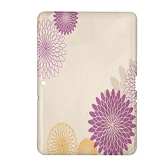 Star Sunflower Floral Grey Purple Orange Samsung Galaxy Tab 2 (10 1 ) P5100 Hardshell Case  by Mariart