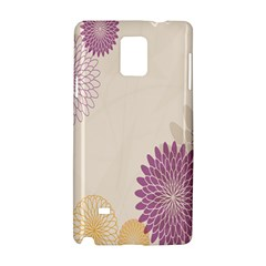Star Sunflower Floral Grey Purple Orange Samsung Galaxy Note 4 Hardshell Case by Mariart