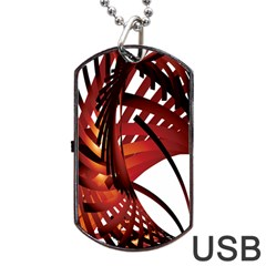 Webbing Red Dog Tag Usb Flash (one Side) by Mariart