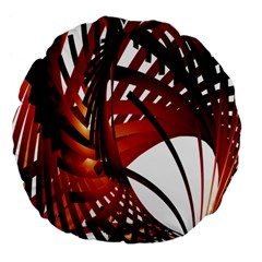 Webbing Red Large 18  Premium Flano Round Cushions by Mariart