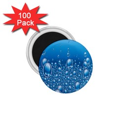 Water Bubble Blue Foam 1 75  Magnets (100 Pack)  by Mariart