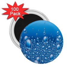 Water Bubble Blue Foam 2 25  Magnets (100 Pack)  by Mariart