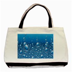 Water Bubble Blue Foam Basic Tote Bag by Mariart