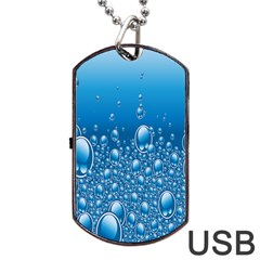 Water Bubble Blue Foam Dog Tag Usb Flash (two Sides)
