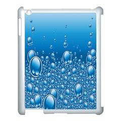 Water Bubble Blue Foam Apple Ipad 3/4 Case (white) by Mariart
