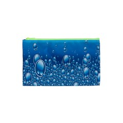 Water Bubble Blue Foam Cosmetic Bag (xs) by Mariart