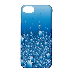 Water Bubble Blue Foam Apple Iphone 7 Hardshell Case by Mariart