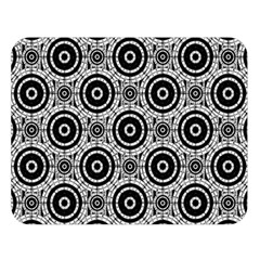 Geometric Black And White Double Sided Flano Blanket (large)  by linceazul