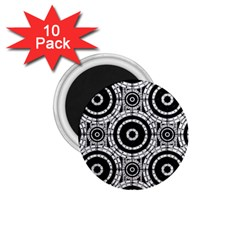 Geometric Black And White 1 75  Magnets (10 Pack)  by linceazul