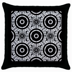 Geometric Black And White Throw Pillow Case (black) by linceazul