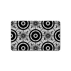 Geometric Black And White Magnet (name Card) by linceazul