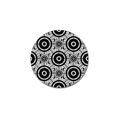 Geometric Black And White Golf Ball Marker (4 Pack) by linceazul