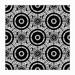 Geometric Black And White Medium Glasses Cloth (2 Side) by linceazul