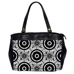 Geometric Black And White Office Handbags (2 Sides)  by linceazul