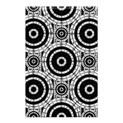 Geometric Black And White Shower Curtain 48  X 72  (small)  by linceazul