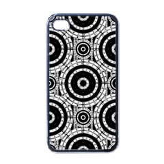 Geometric Black And White Apple Iphone 4 Case (black) by linceazul