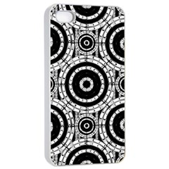Geometric Black And White Apple Iphone 4/4s Seamless Case (white) by linceazul