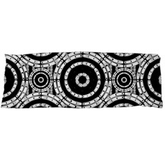 Geometric Black And White Body Pillow Case Dakimakura (two Sides) by linceazul