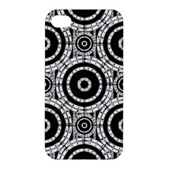 Geometric Black And White Apple Iphone 4/4s Premium Hardshell Case by linceazul