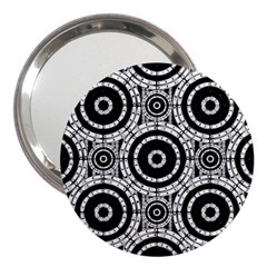 Geometric Black And White 3  Handbag Mirrors by linceazul