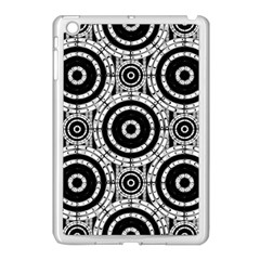 Geometric Black And White Apple Ipad Mini Case (white) by linceazul