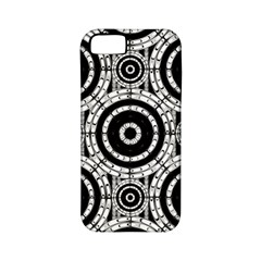 Geometric Black And White Apple Iphone 5 Classic Hardshell Case (pc+silicone) by linceazul