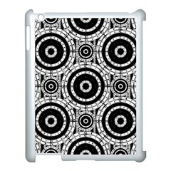 Geometric Black And White Apple Ipad 3/4 Case (white) by linceazul