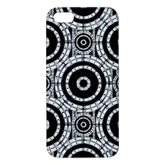 Geometric Black And White Apple Iphone 5 Premium Hardshell Case by linceazul