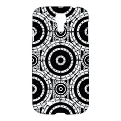 Geometric Black And White Samsung Galaxy S4 I9500/i9505 Hardshell Case by linceazul