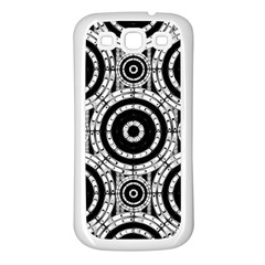 Geometric Black And White Samsung Galaxy S3 Back Case (white) by linceazul
