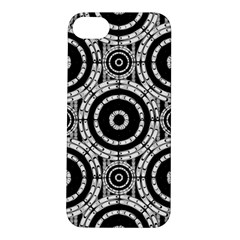 Geometric Black And White Apple Iphone 5s/ Se Hardshell Case by linceazul
