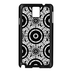 Geometric Black And White Samsung Galaxy Note 3 N9005 Case (black) by linceazul