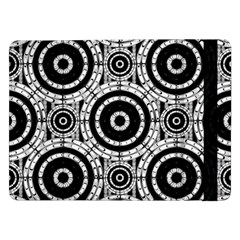 Geometric Black And White Samsung Galaxy Tab Pro 12 2  Flip Case by linceazul