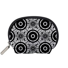 Geometric Black And White Accessory Pouches (small)  by linceazul