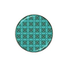 Turquoise Damask Pattern Hat Clip Ball Marker (4 Pack) by linceazul
