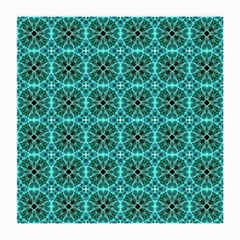 Turquoise Damask Pattern Medium Glasses Cloth (2 Side) by linceazul