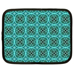 Turquoise Damask Pattern Netbook Case (xl)  by linceazul