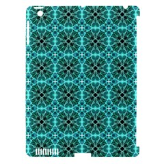 Turquoise Damask Pattern Apple Ipad 3/4 Hardshell Case (compatible With Smart Cover) by linceazul